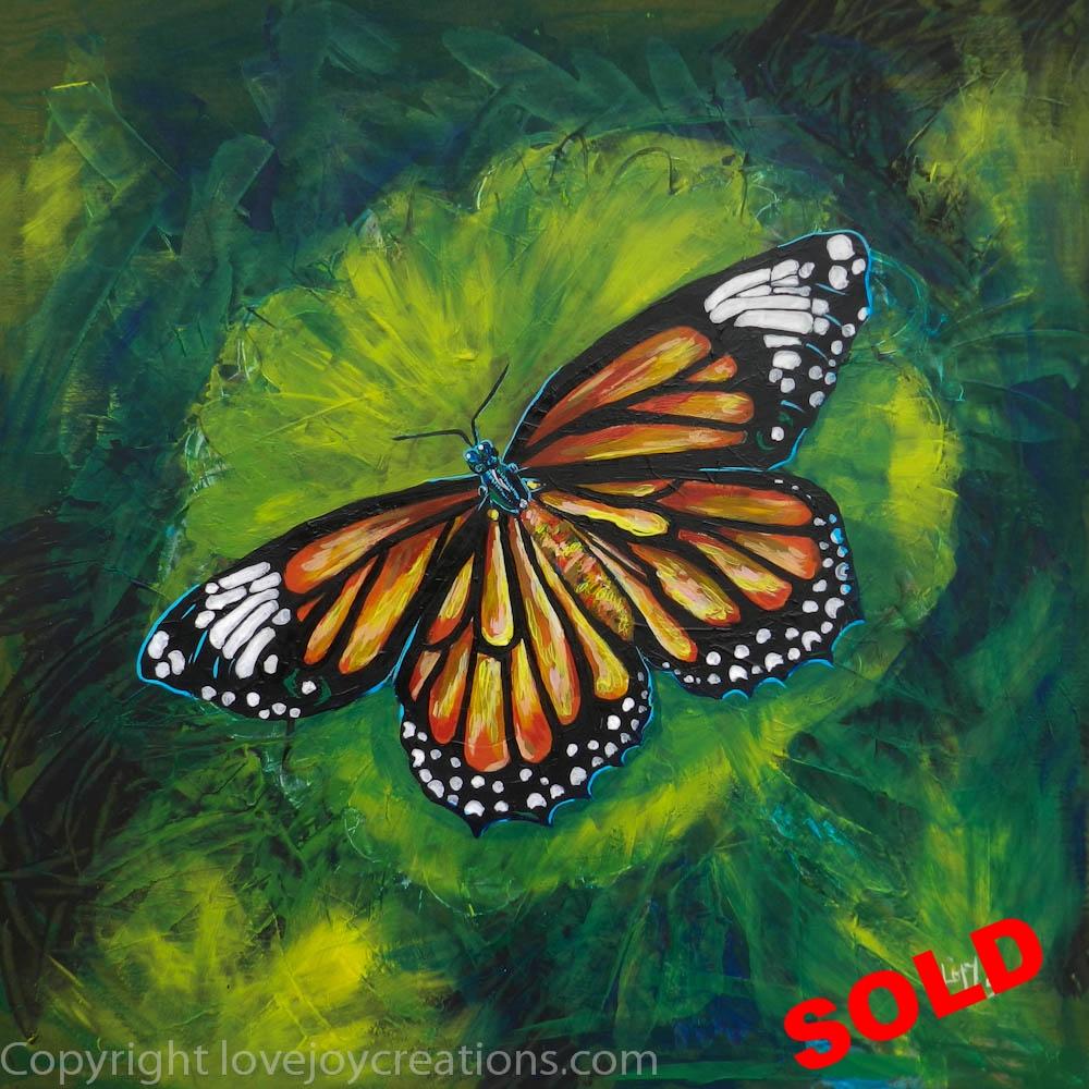 24x24 inches - Tiger Monarch