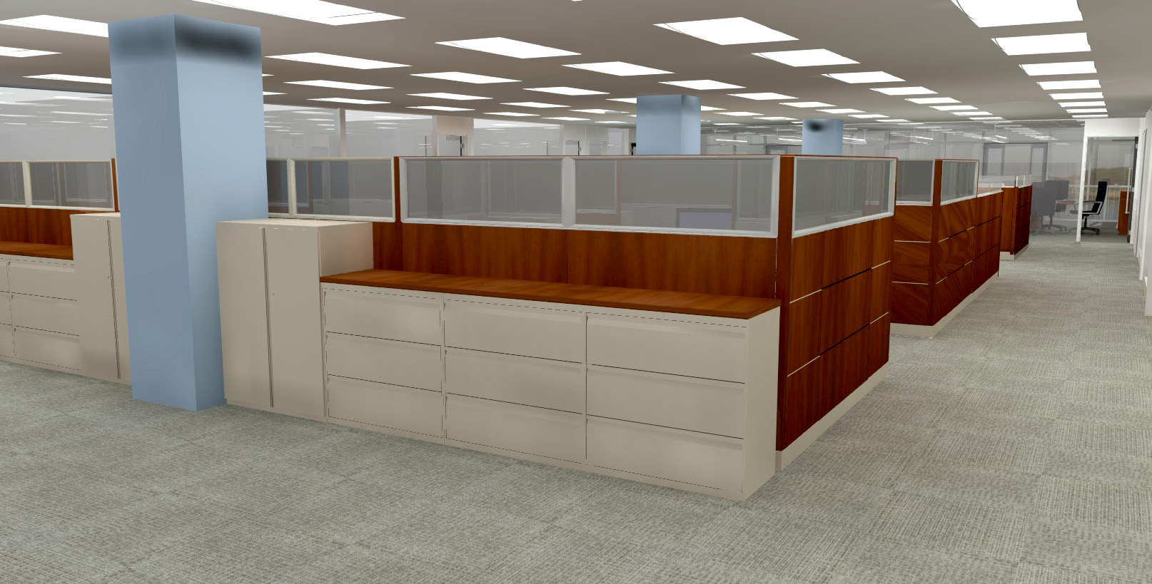 Cubicle view I. Rendering