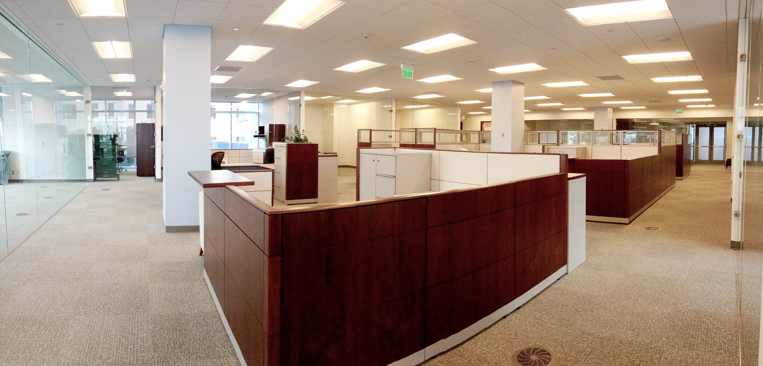 Cubicle view II. Photograph