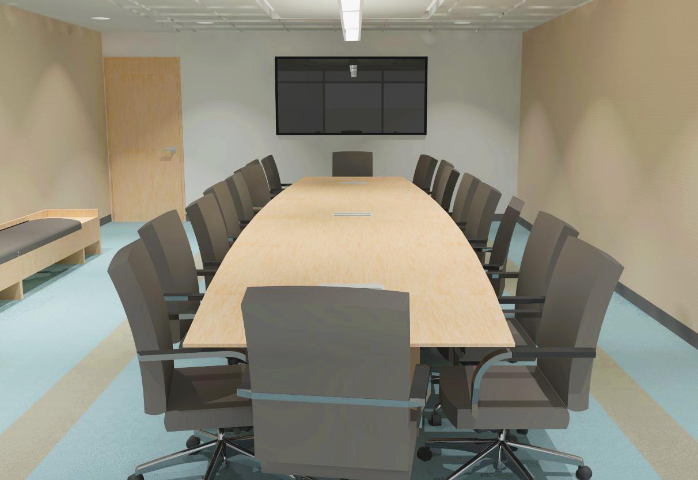 Board room view. Rendering