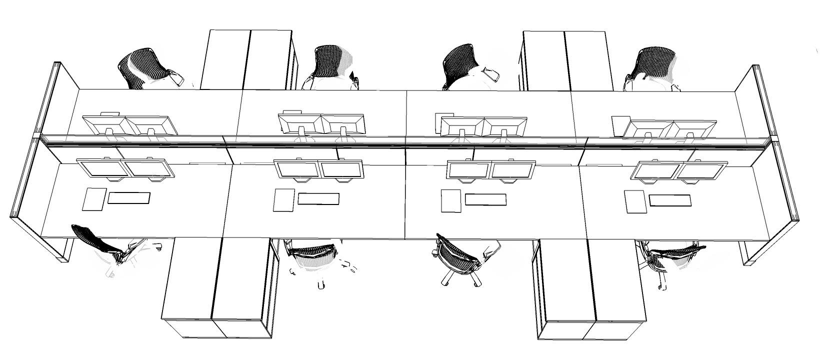 Trader desk layout