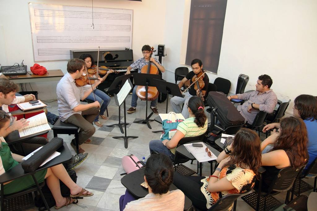 Ravel Quartet performs in an open session on day three of the workshop