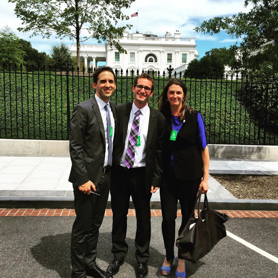 James, Brad, and Claire following August meeting at White House