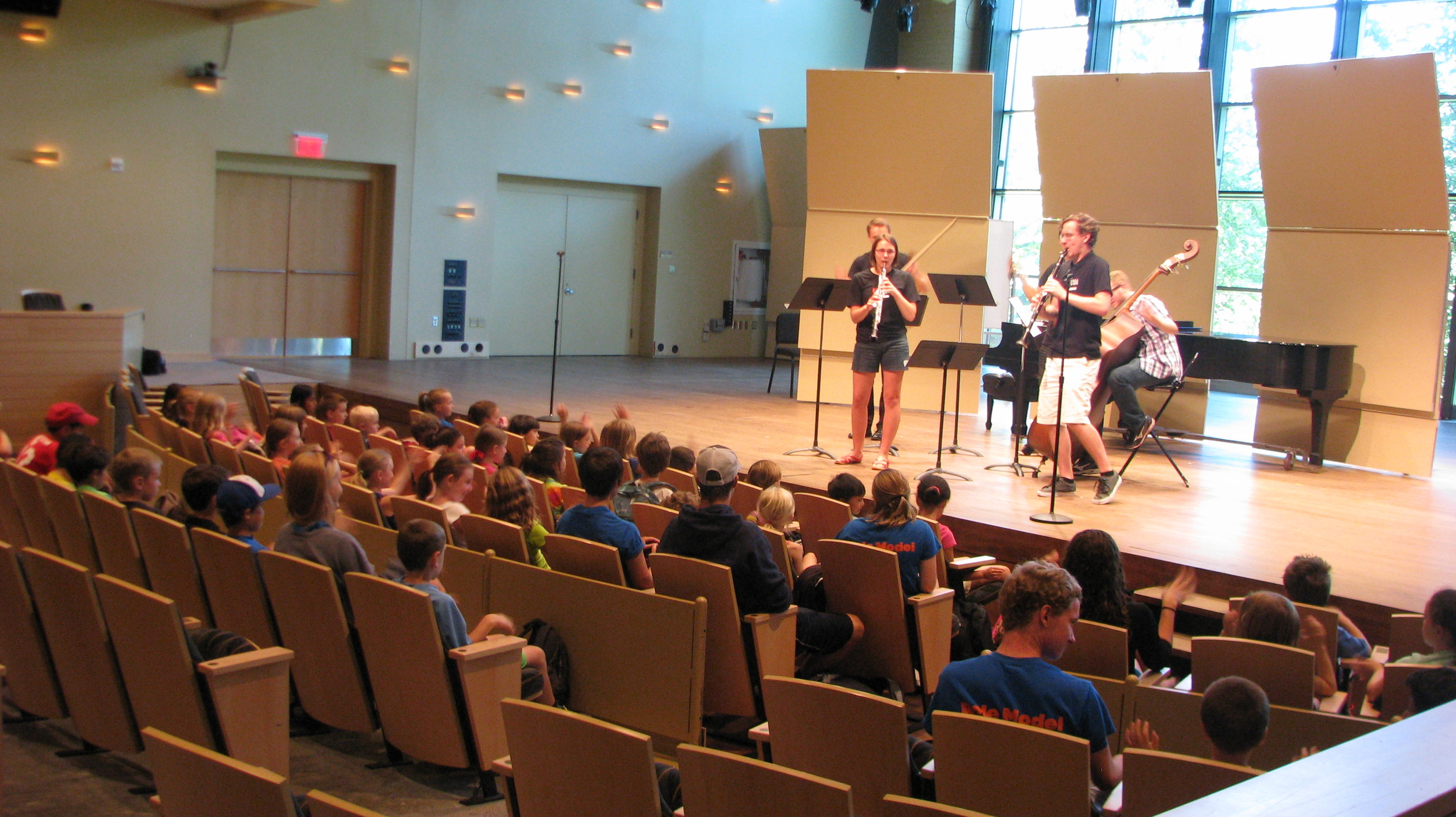 Decoda|Skidmore Chamber Music Institute, 2015 - Interactive performance by DSCMI students for elementary school kids.