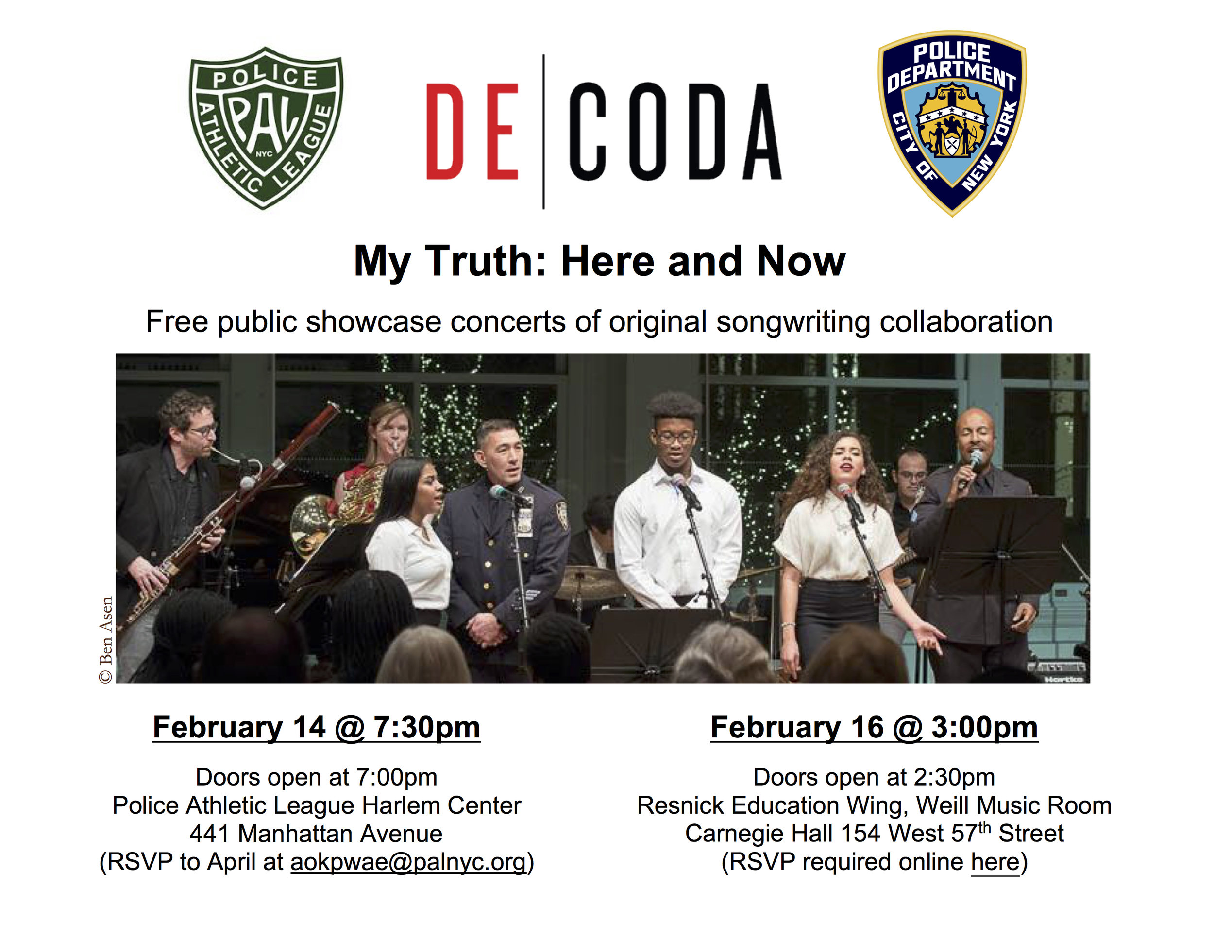 Carnegie Hall Calendar February 14, 2019 upcoming events — Decoda