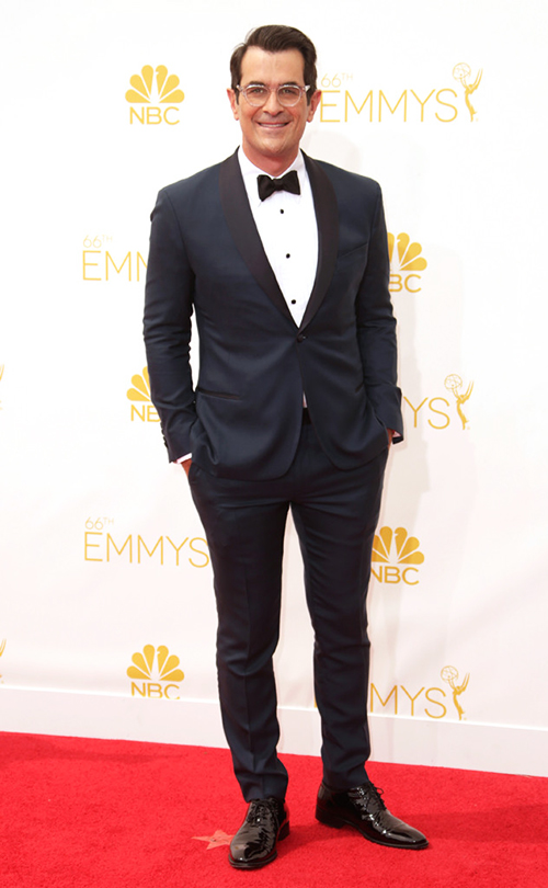 Ty Burrell was a great example of one of the most emergent trends of the evening: Blue tuxedos! And Burrell pulled it off better than most. While we think that his trousers are a little too tight for comfort, overall he looks great and like he's ready to have a great time.