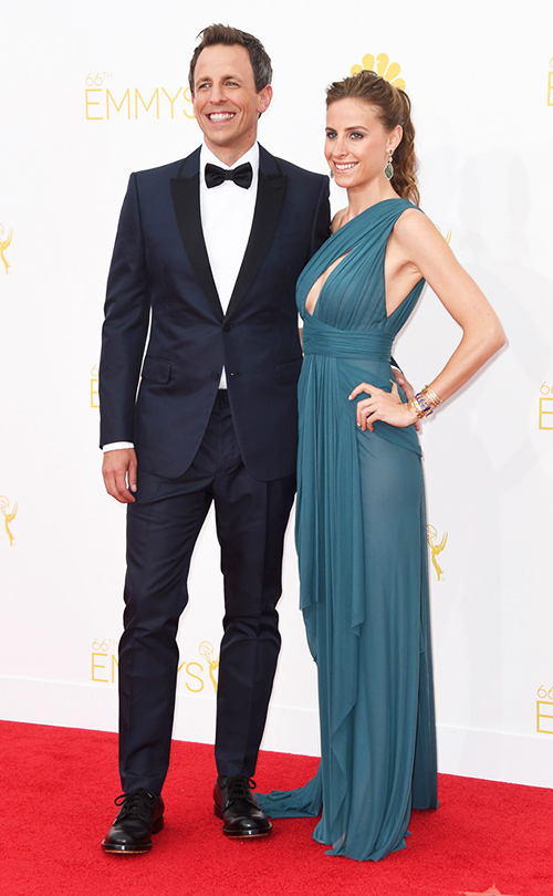 If there was one trend that stood out more than any other, it was non-black tuxedos. Specifically blue tuxedos. And if there's one guy that nailed it better than anyone else, it was Emmy's host Seth Meyers. We think he could've used a cummerbund and one fewer button on the coat, but the overall looks is just so classy, we really can't complain.