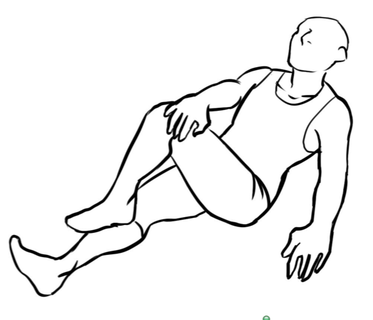 Lying Outer Hip Stretch