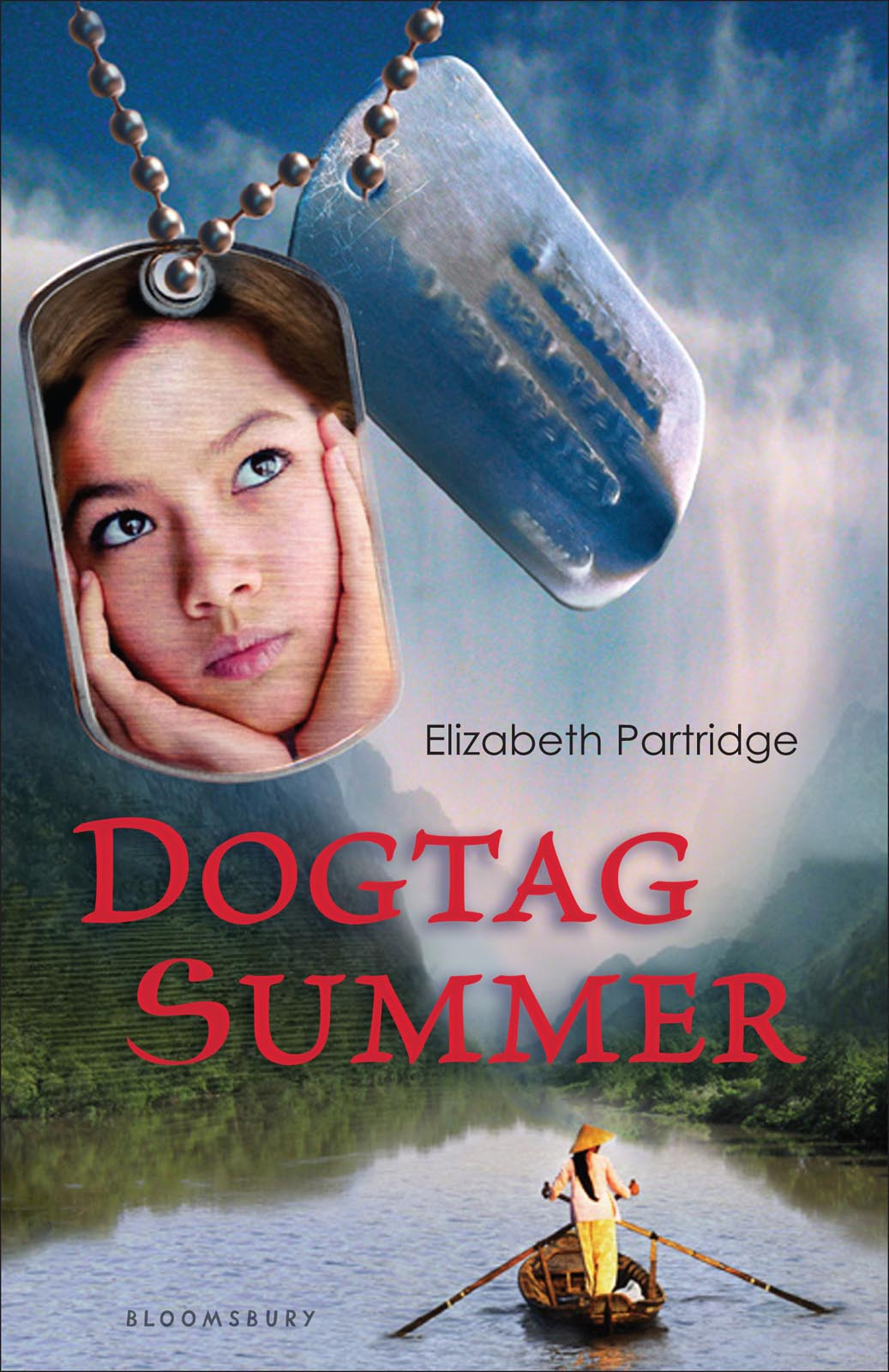 """DogTag Summer - Tracy—or Tuyet—always knew she was different. The villagers in Vietnam scornfully called her con-lai, or """"half-breed,""""because her father was an American GI. Yet she's not sure she fits in with her new family in California, either.When Tracy finds a soldier's dogtag hidden by her adoptive father (a Vietnam vet himself), she's haunted by memories from her life in Vietnam: hiding from Vietcong soldiers, being dragged away from her village by a GI, the American Boss Man's knife at her throat.Tracy struggles to reconcile her harrowing memories of Vietnam with her life in California. Where is home when you're a child of war, caught between two countries, two identities? When is love enough to carry you through what you've discovered about your past? About your father's past?Bloomsbury Children's Books"""