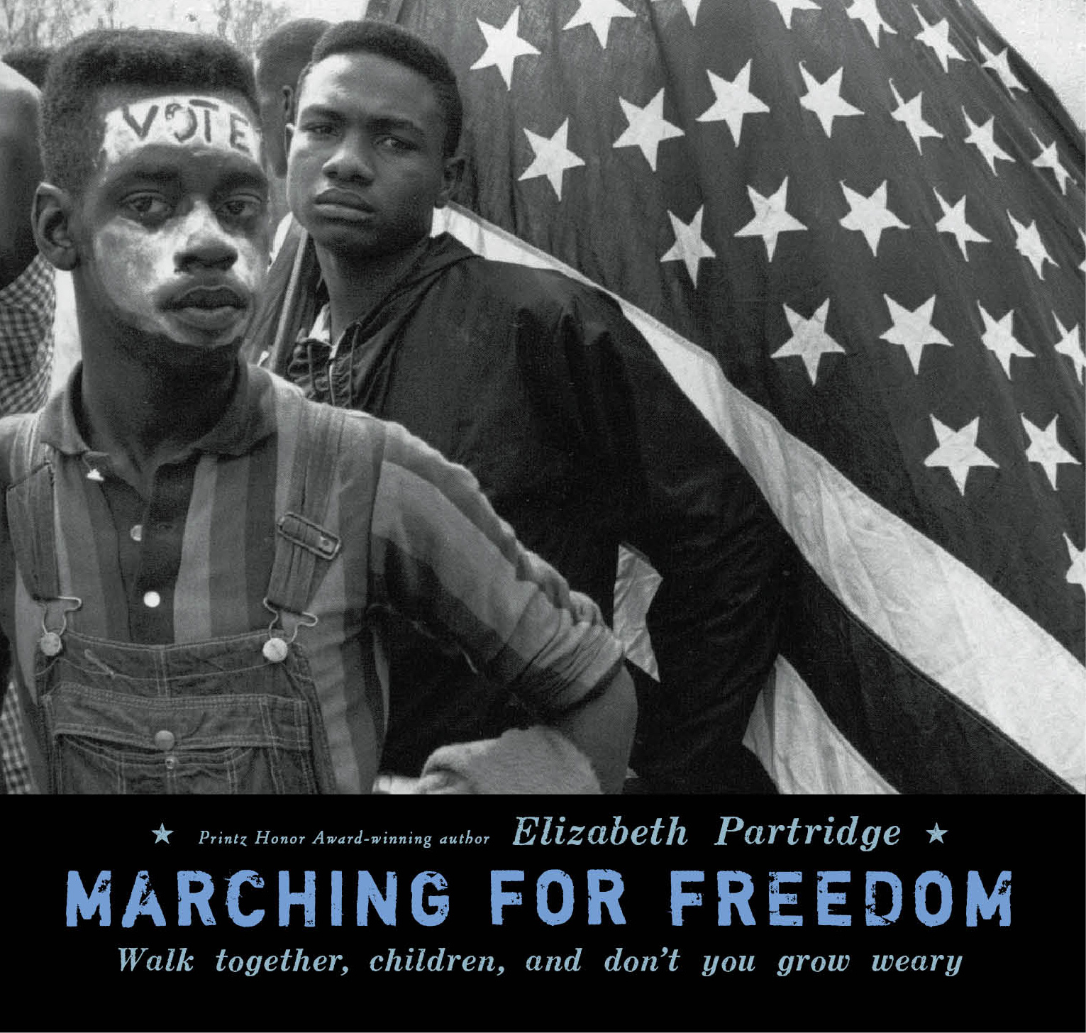 Marching for Freedom - More than forty years ago in the U.S., Dr. Martin Luther King Jr. was leading a fight to win blacks the right to vote. Ground zero for the movement became Selma, Alabama.Author Elizabeth Partridge leads you straight into the chaotic, passionate, and deadly three months of protests that culminated in the landmark march from Selma to Montgomery in 1965. Focusing on the courageous children who faced terrifying violence in order to march alongside King, this is an inspiring look at their fight for the vote.Viking Books for Young Readers, 2009