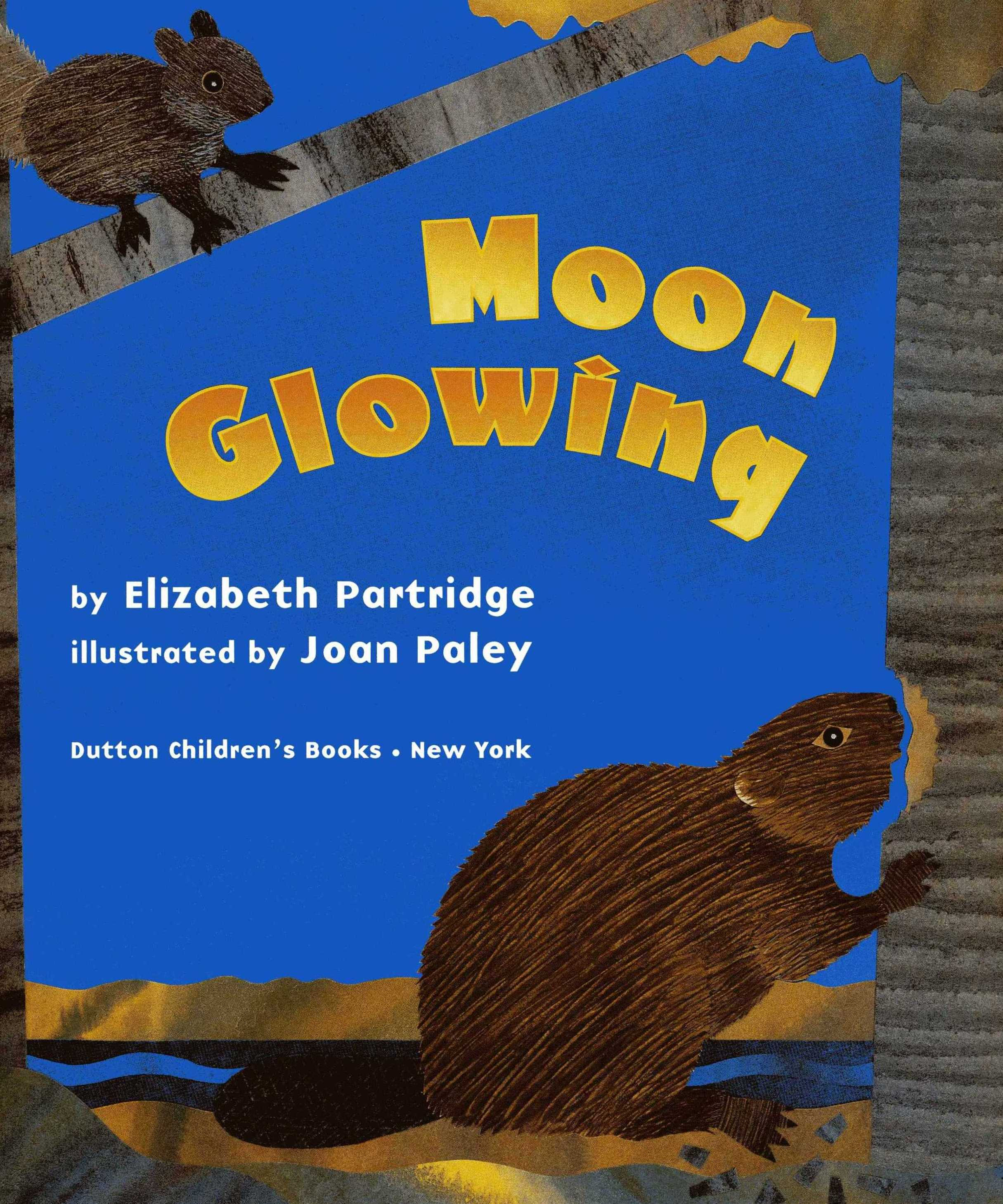 Moon Glowing - The autumn leaves are twirling down. The squirrel is stashing, the bat swooping, the beaver building, and the big bear is feasting well. In this simple, rhythmic story, four quite different furry animals prepare resting places for the coming winter.Spare prose marks the progress of each animal and the final, quiet beauty of the forest's first snowfall. Joan Paley's colorful, textured collage art, playful yet tender, captures the wonder of the unfolding autumn season and the arrival of the silent winter.Illustrated by Joan PaleyDutton Children's Books 2002 (Out of Print)