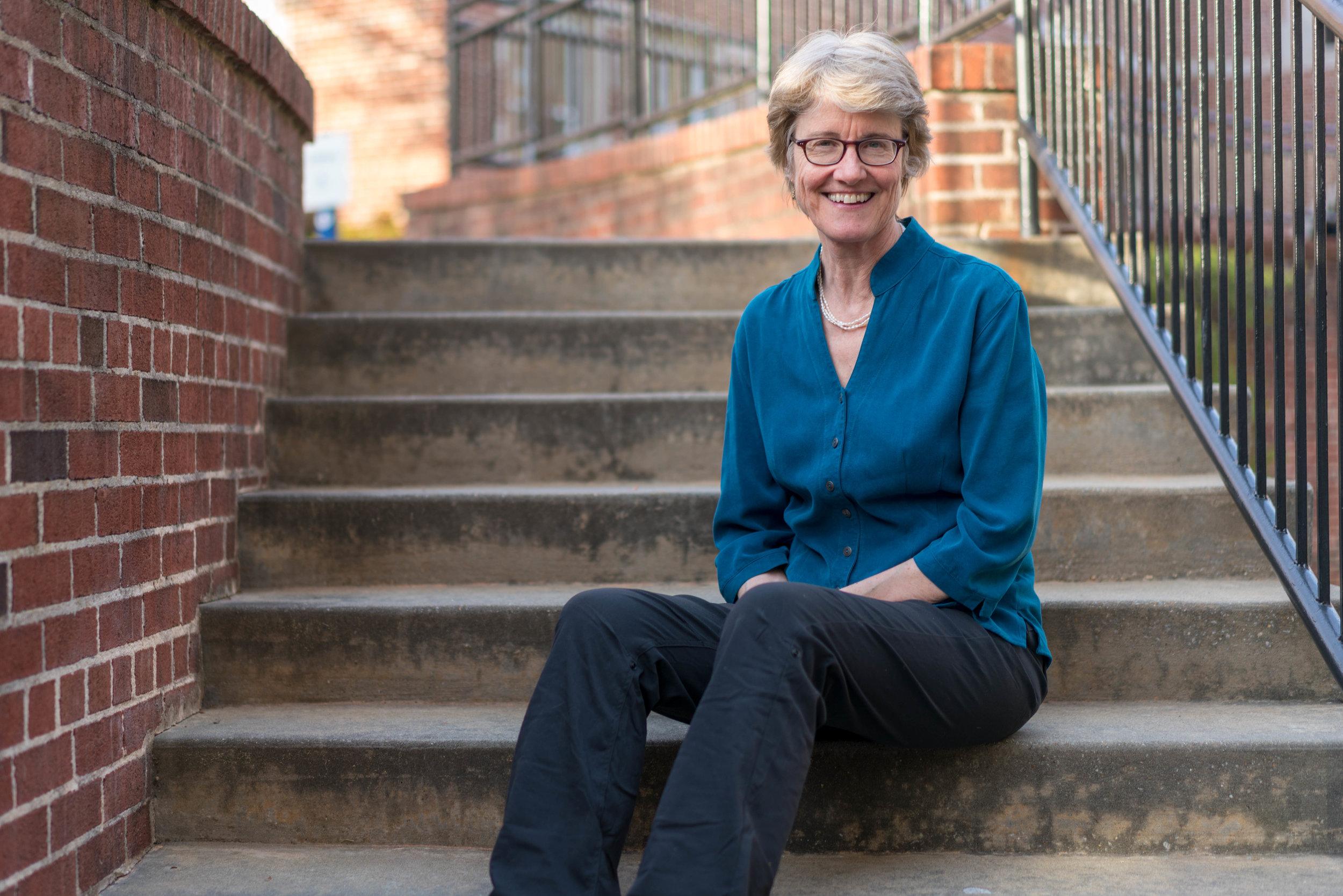 Elizabeth Partridge on stairs alternate.jpg