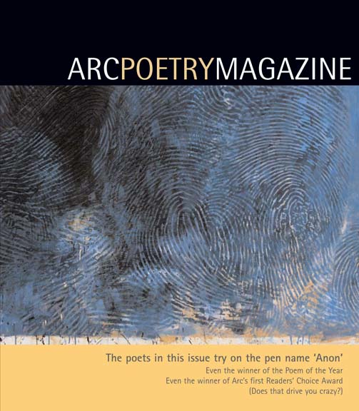 Arc Poetry: Canada's National Poetry Magazine, Winter 2008-2009