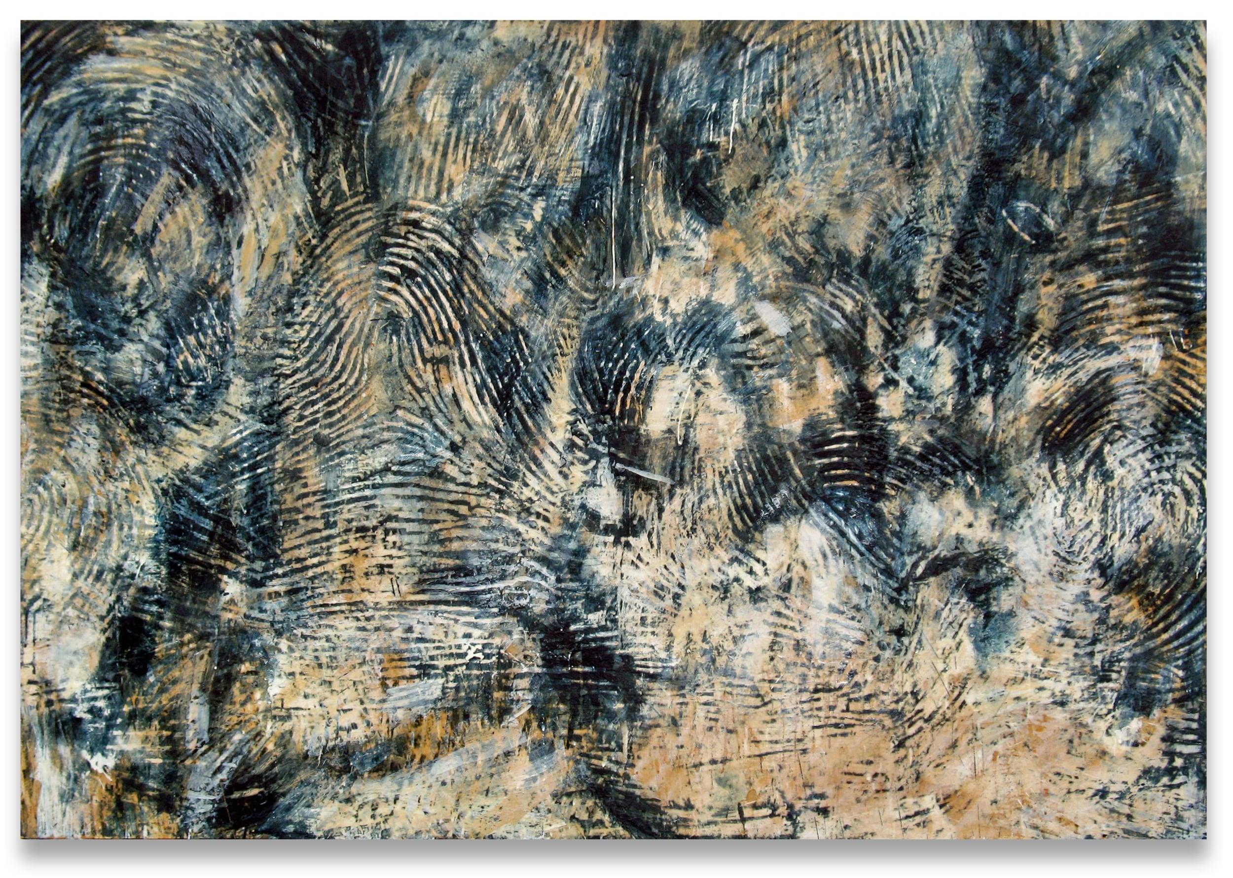 Exhibits detail (Exhibit B – fingerprints on a windowpane), 2004