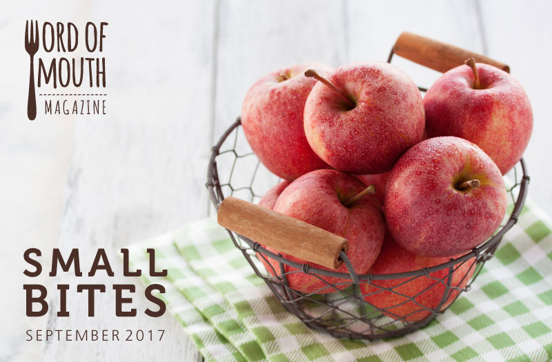 September 2017 Small Bites for Word of Mouth magazine