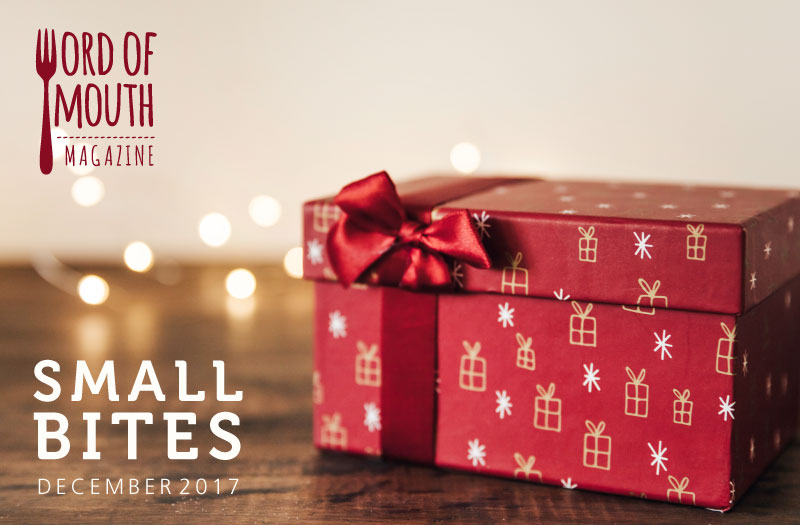 December 2017 Small Bites for Word of Mouth magazine