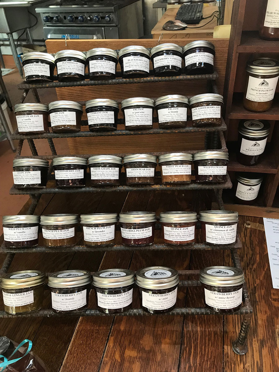 A collection of the canned goodies grown and preserved at Petit Teton Farm