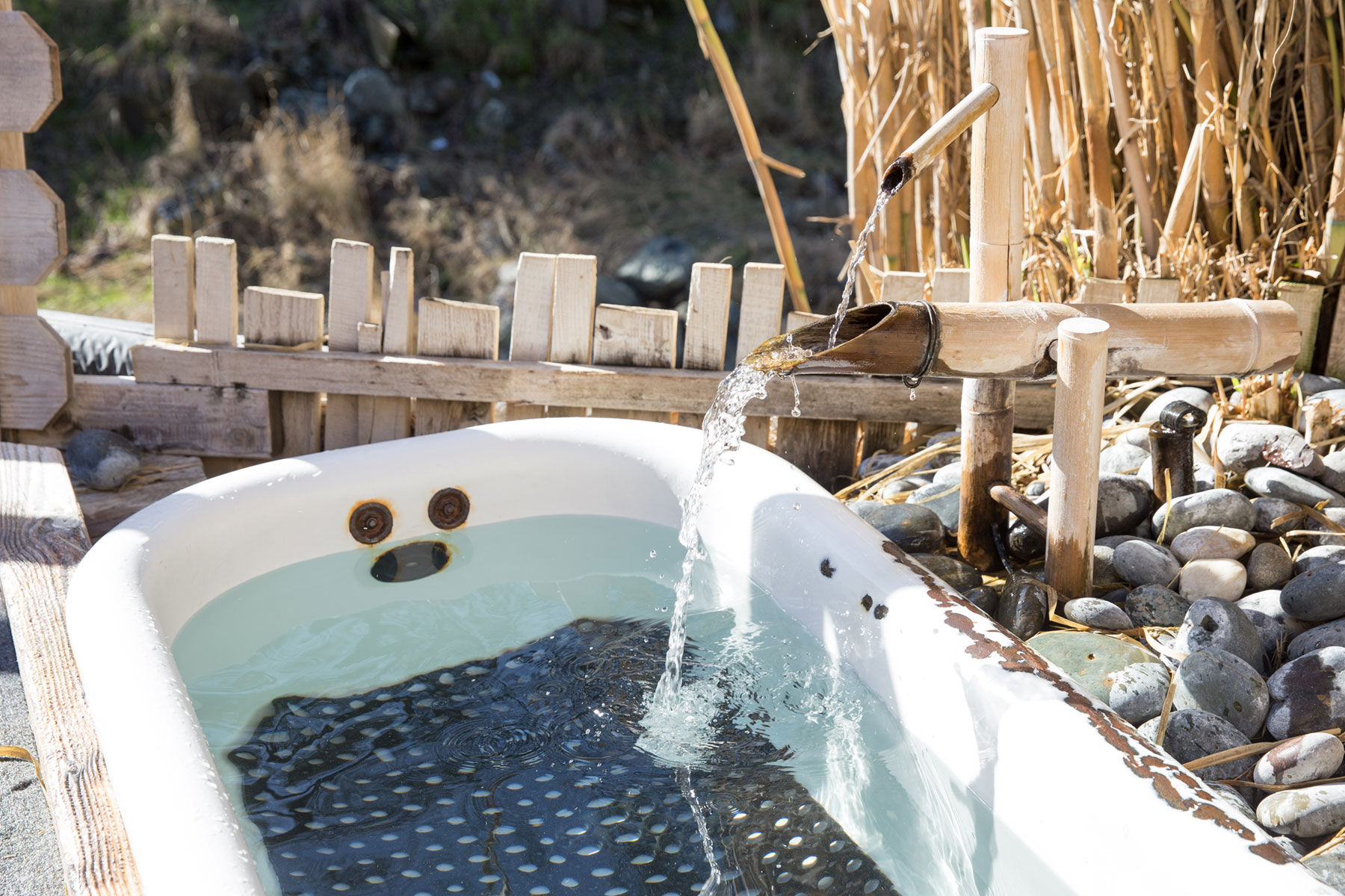 an outdoor tub at Wilbur Hot Springs