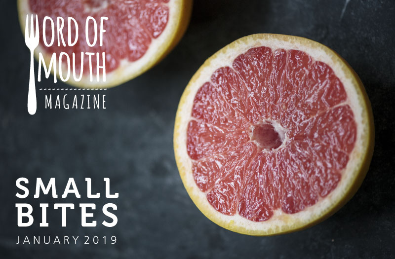 January 2019 Small Bites for Word of Mouth magazine