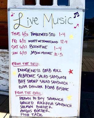 announcement board at Princess Seafood Market & Deli