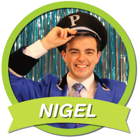 Nigel  Late 20s; the hotel's amiable doorman who is everyone's best buddy; compassionate, dependable, good through and through