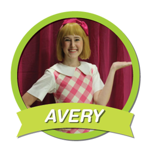 Avery Age 6; Sunny, nurturing, bright, well-mannered; and though she lives in a luxury hotel, she is as down to earth as Laura Ingalls Wilder