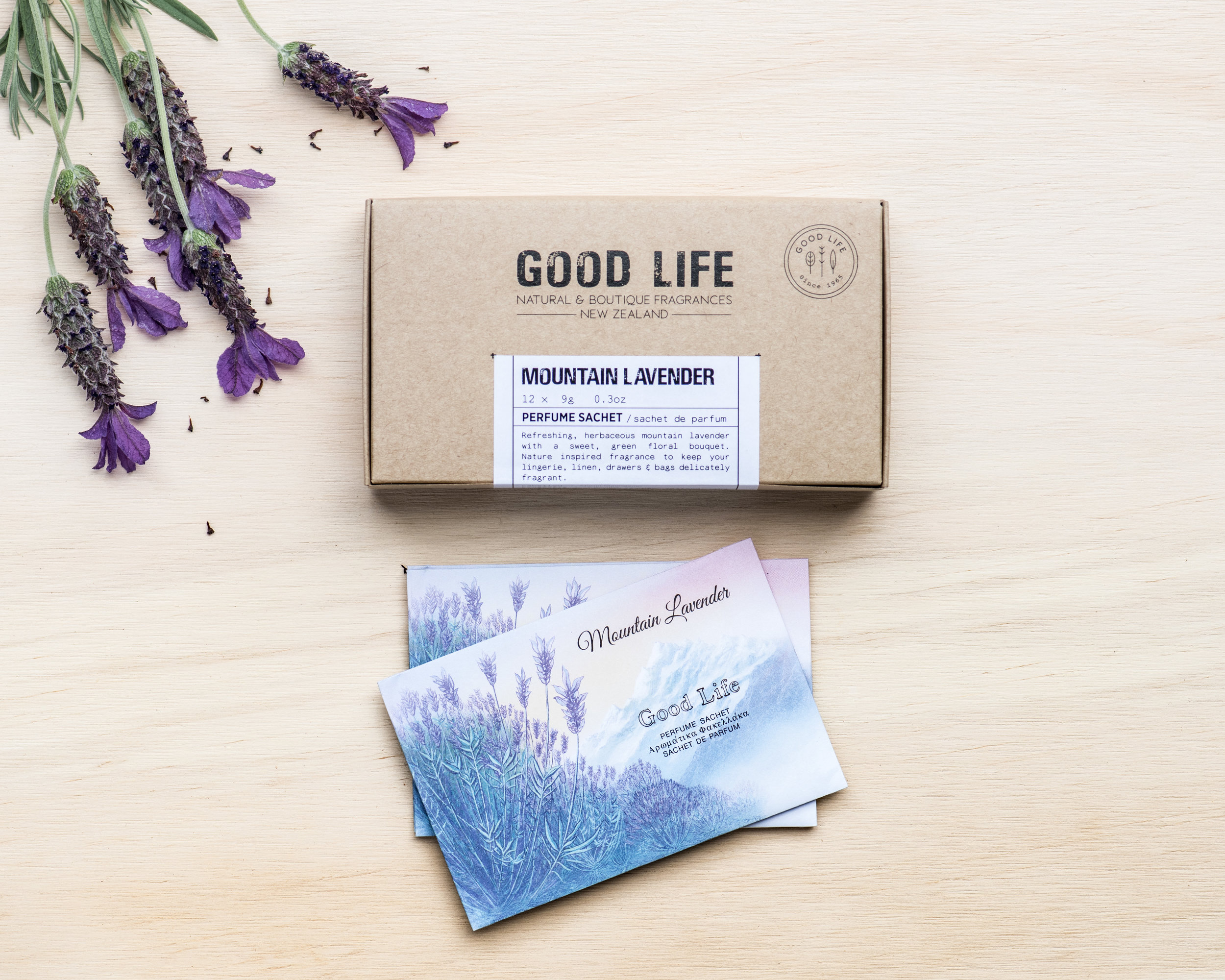 Lavender - Refreshing, herbaceous mountain lavender with a sweet, green floral bouquet.Nature inspired fragrance to keep your lingerie, linen, drawers & bags delicately fragrant.