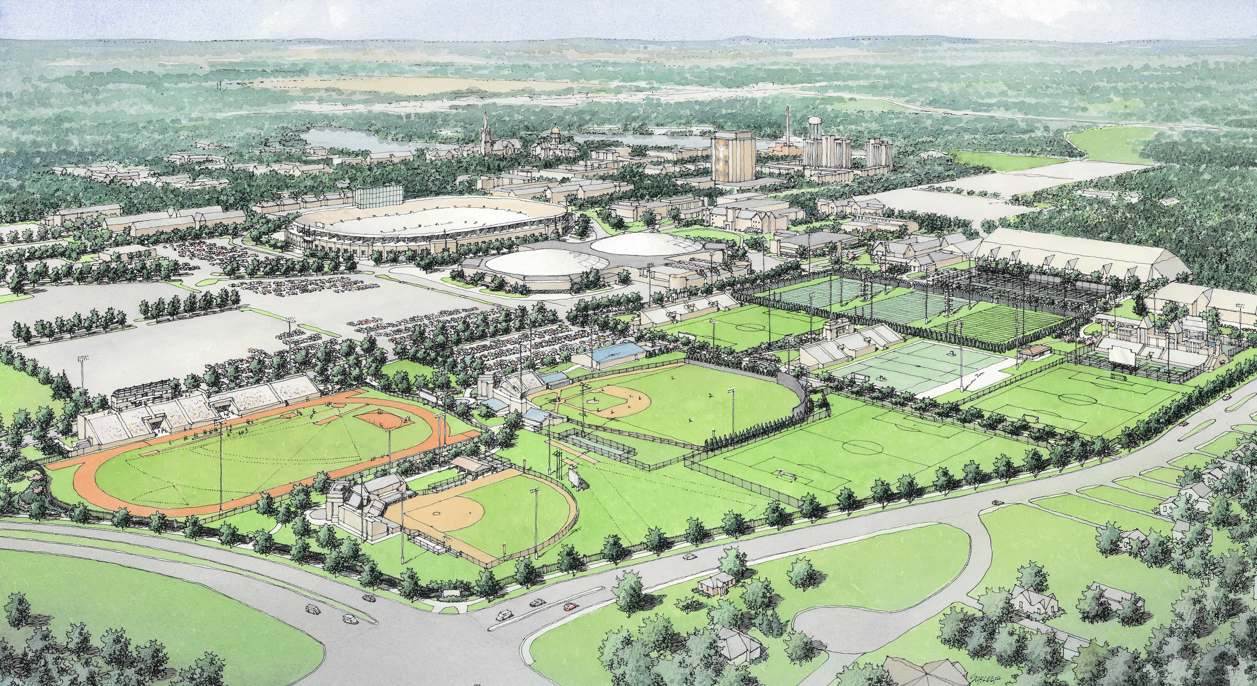 University of Notre Dame Athletics Quad