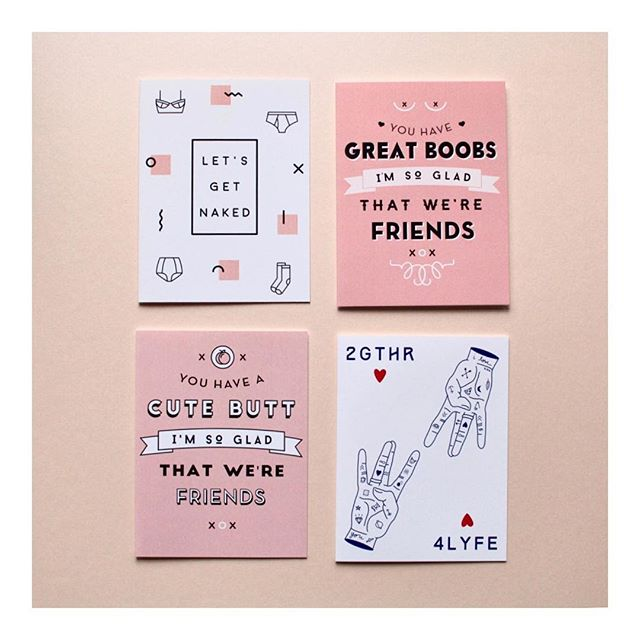 On Wednesdays (and Thursday) we wear pink.  This Valentine's/Galentine's Day, let your partner / bff / self know how much you care.  #valentinesday #galentinesday #vday #pink #happyhourandco #greetingcard #papergoods #stationery #bff #cards #funnycards