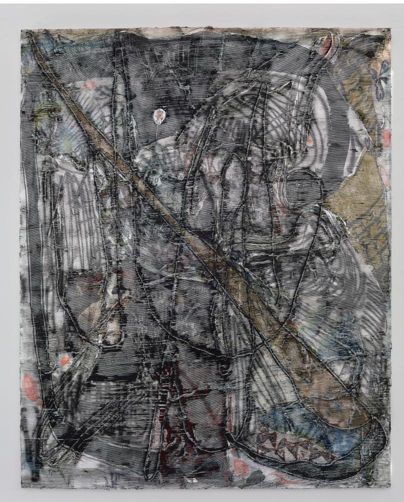 "Garth Weiser, 'Tap out' 2017, oil on canvas 98"" x 79"""