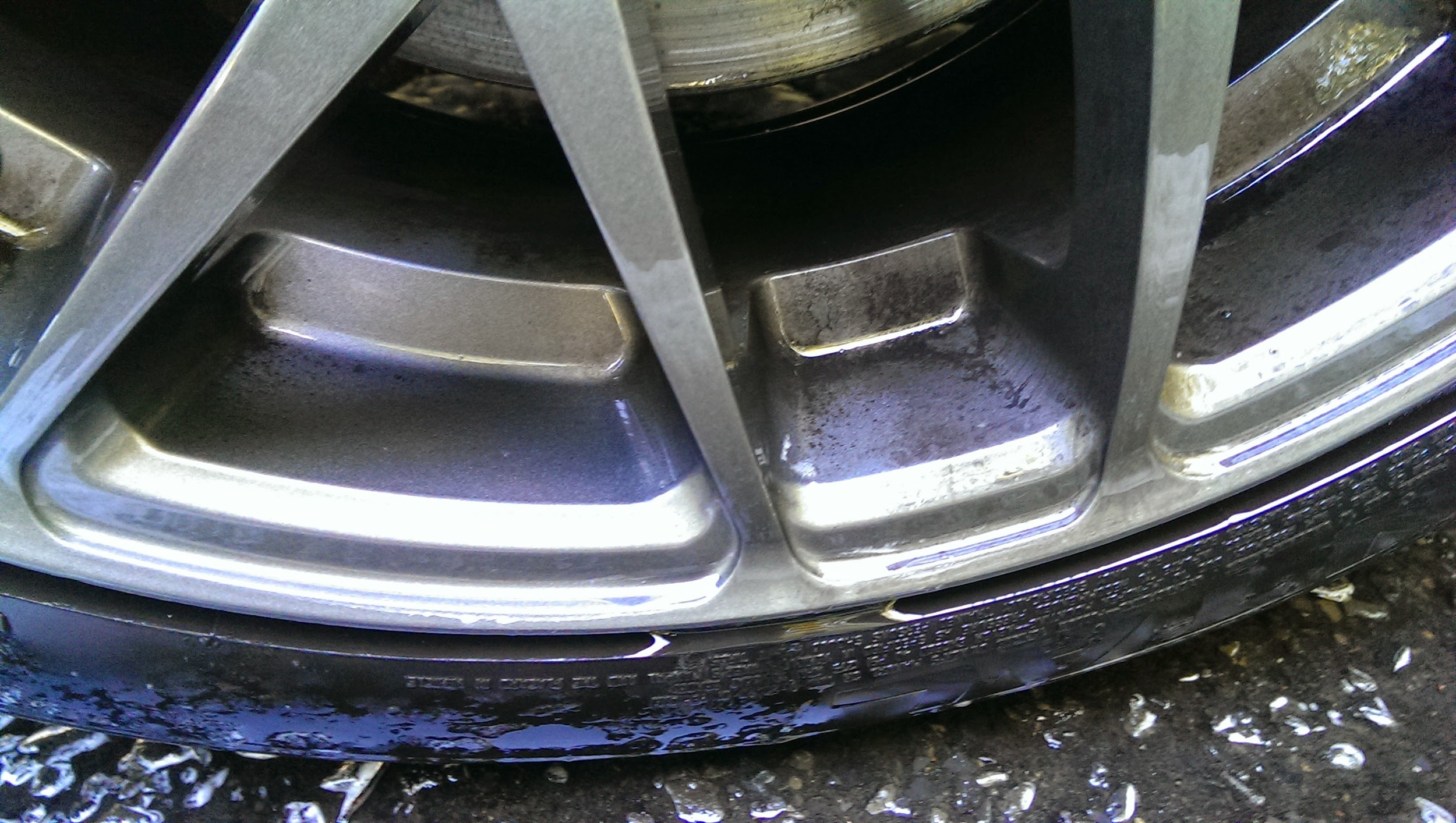 One pass with wheel cleaner - needed two.