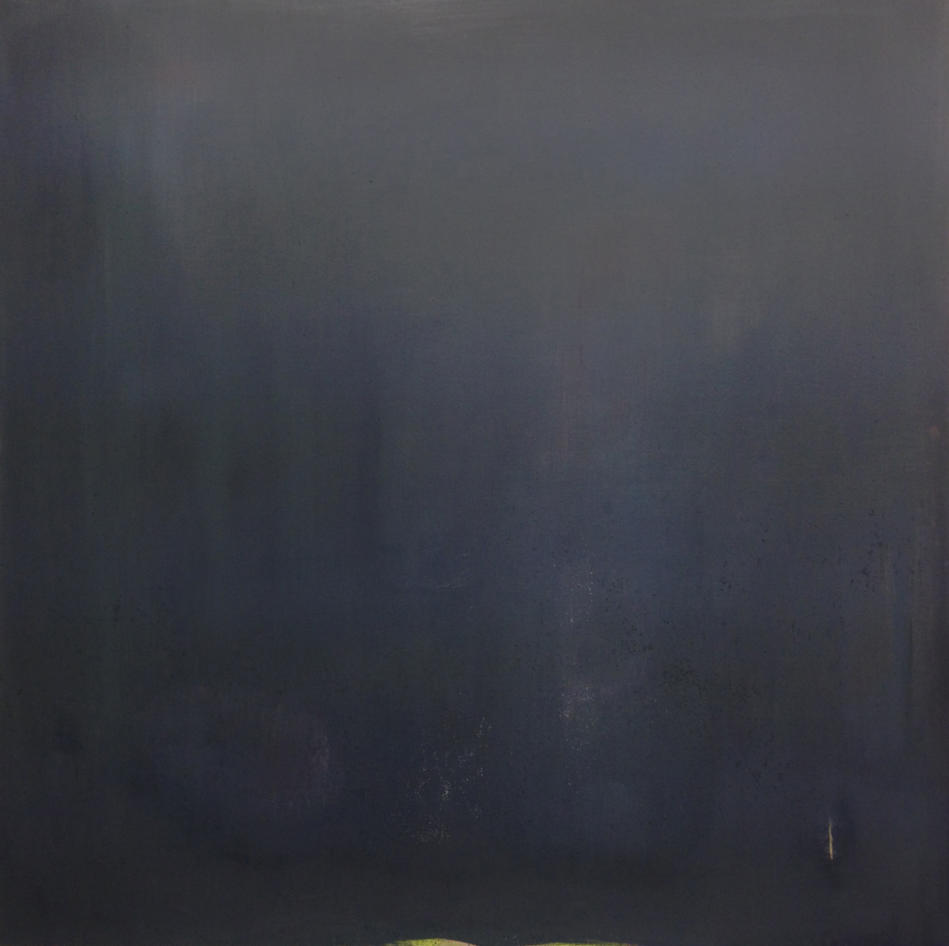"Veil, 48"" x 48"", oil and chalk on panel, 2012"