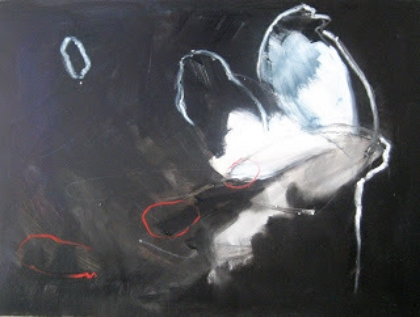 Jennifer Davey, Illuminate, 2008, oil and oil bar on panel, 12 x 16 in. Private collection