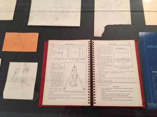 Clyfford Still's World War II shipyard manual.