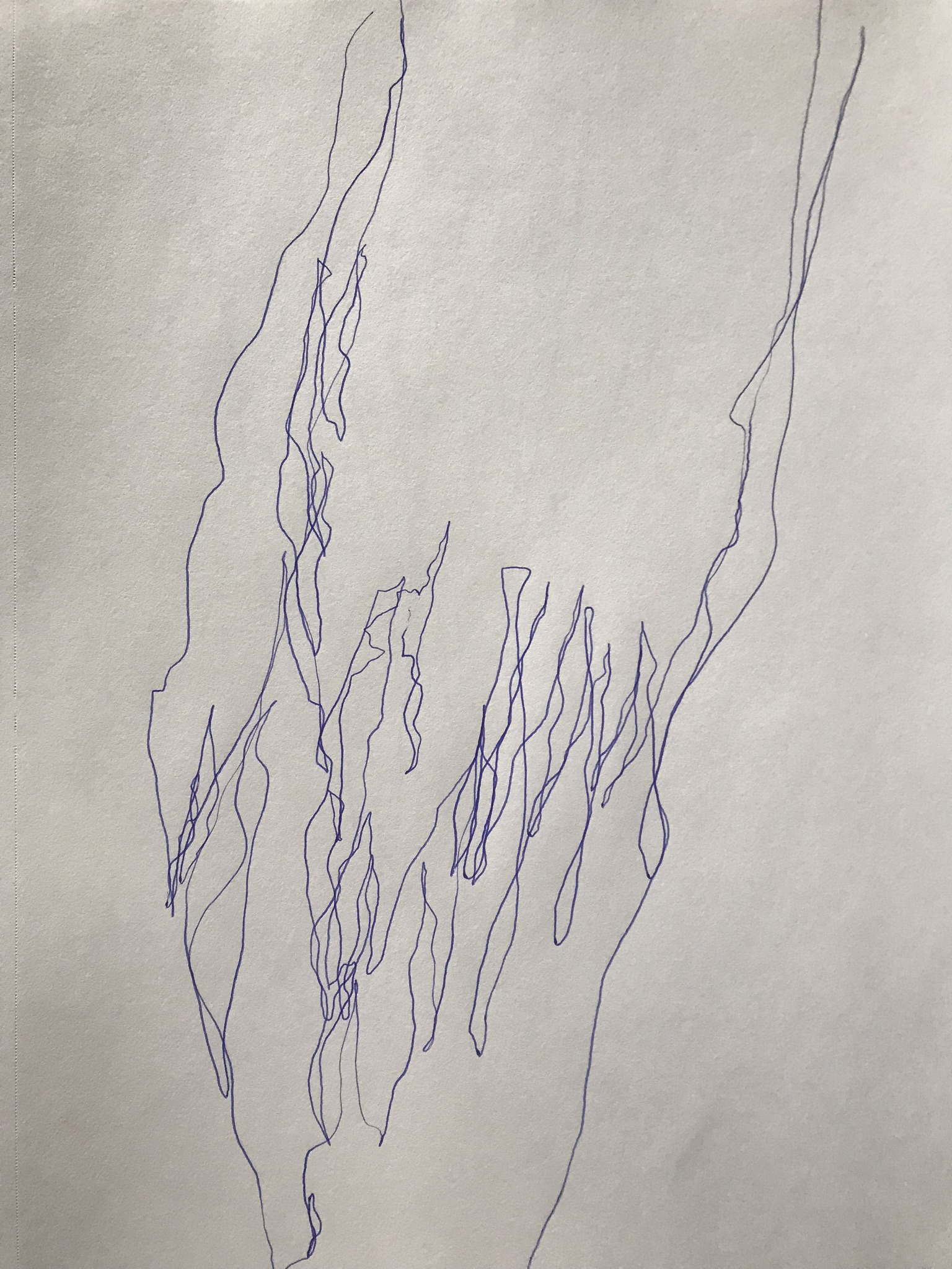 Night drawing, after Cy Twombly April 8, 2019 Jennifer Davey