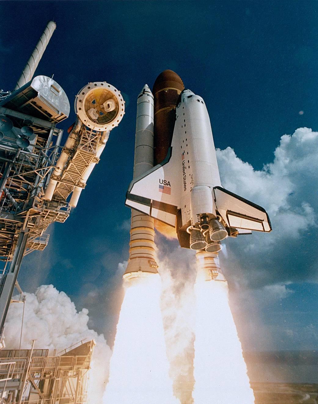 Maiden launch of Shuttle Atlantis. Photo courtesy of NASA.