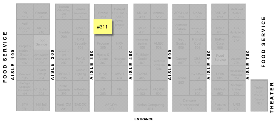 Booth#311 Location