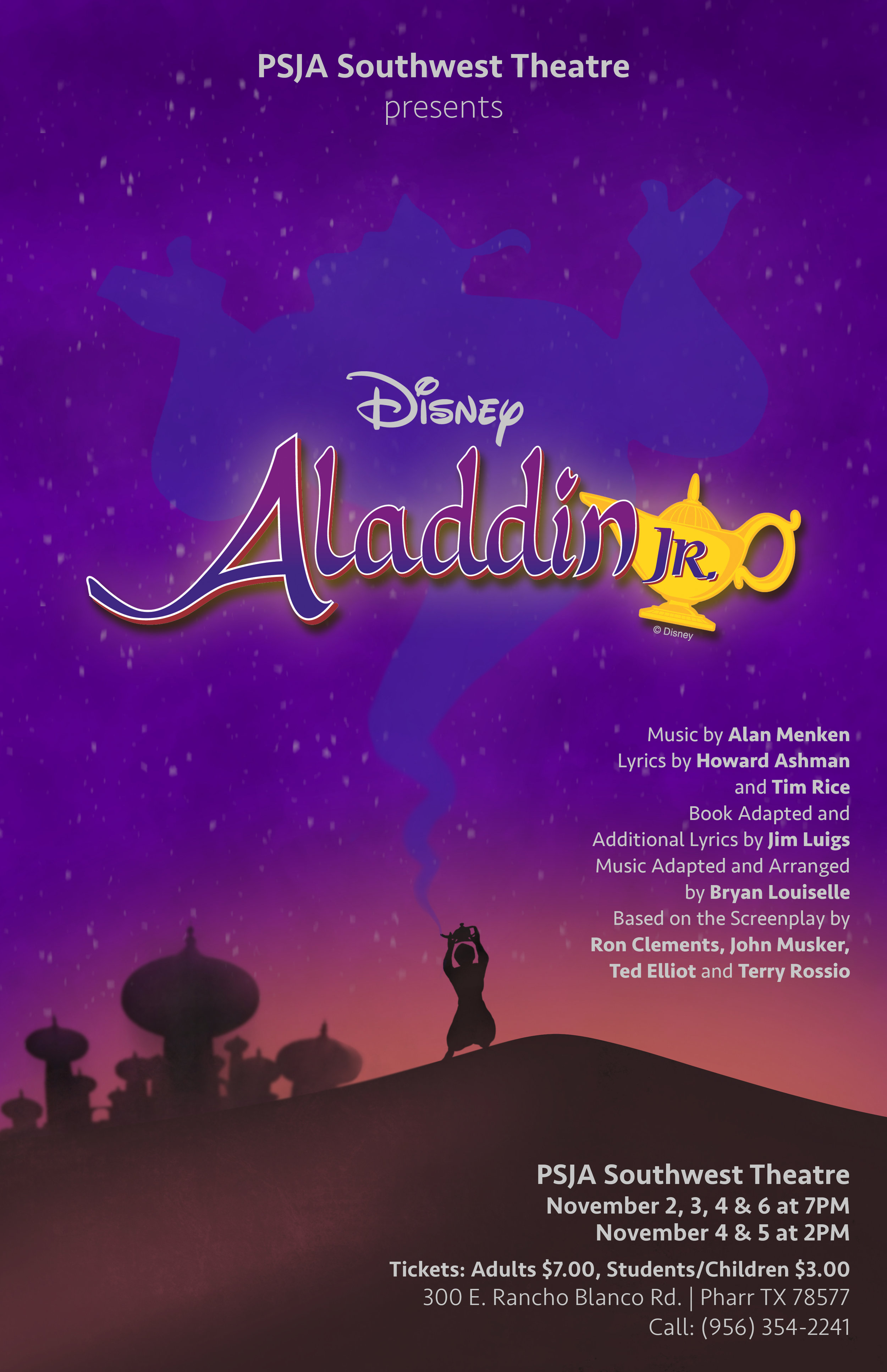 Aladdin  Production Poster