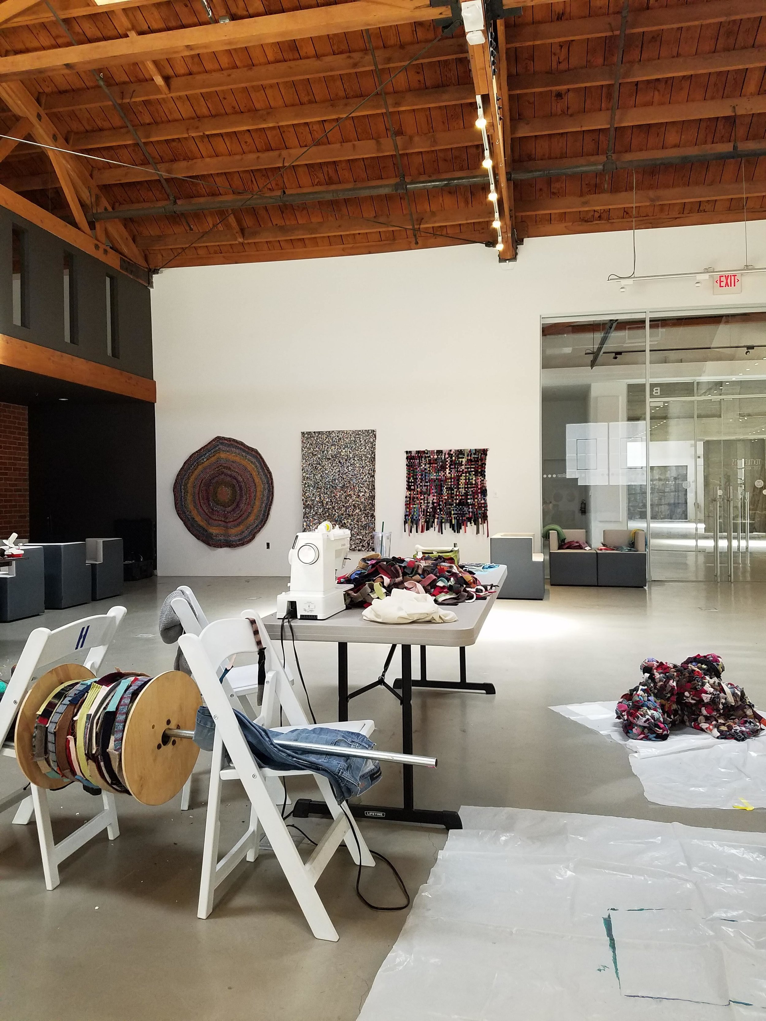 In-progress shot of studio residency