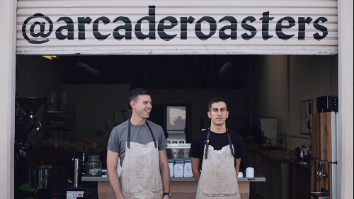 """""""Hi, we're Arcade.  We want to enrich lives by inspiring others to create shared moments, relationship and a sense of belonging for all.  We love the specialty coffee industry and want to be apart of developing the coffee culture in Riverside, CA. We have had so many unique and amazing experiences while drinking an espresso from a local shop or sharing a cup of coffee with a friend. There is nothing like finding a coffee that takes you on a journey, and we hope to be the ones to introduce you to coffee experiences you've never had before.""""  - To learn more about Arcade Coffee, visit their website,  H E R E"""