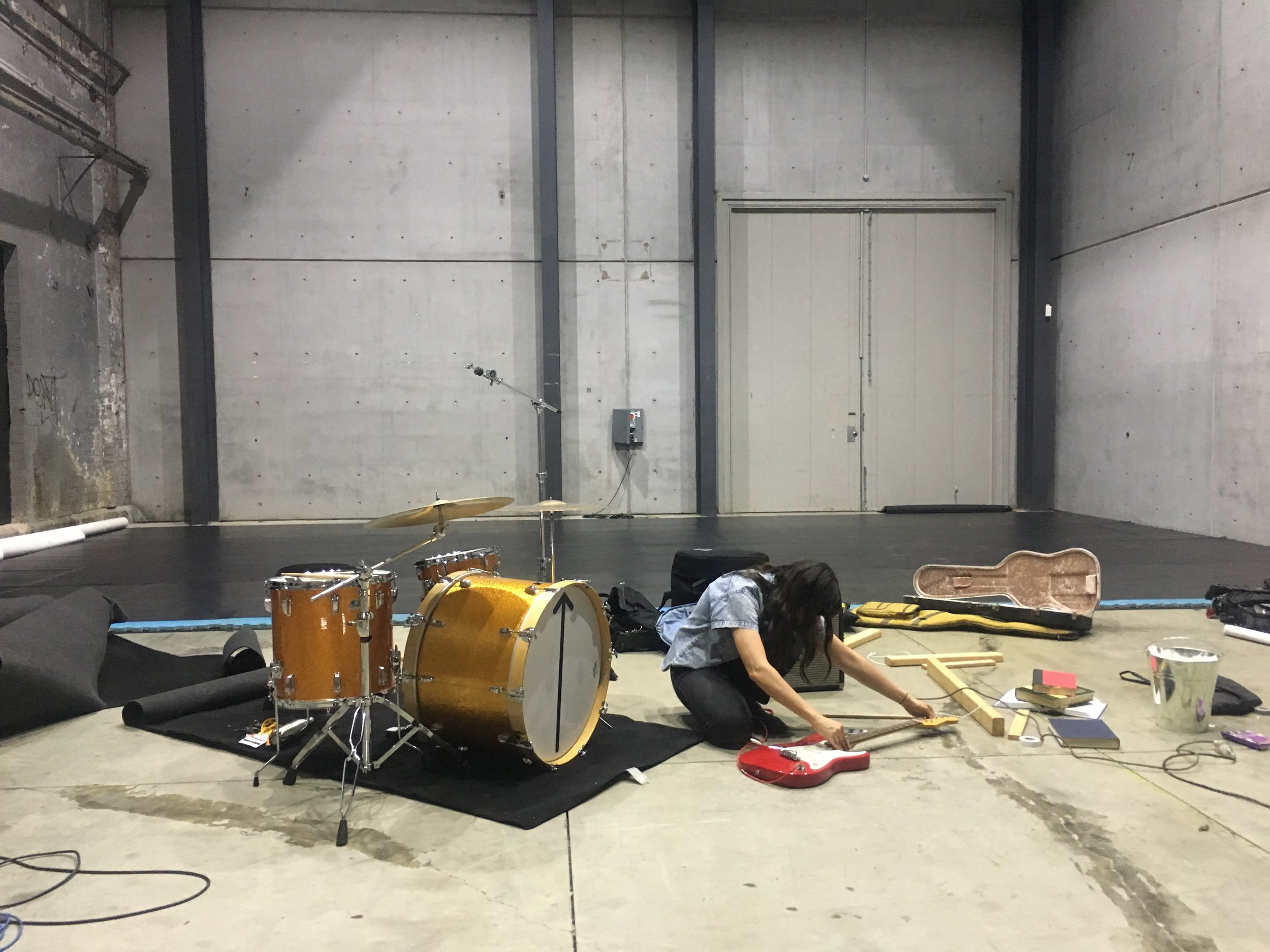 Invisible, as Music rehearsals > Performance Space > Carriageworks > 2018  photo: Alyx Dennison