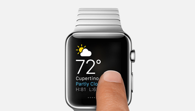 Apple Watch Glance Ansicht