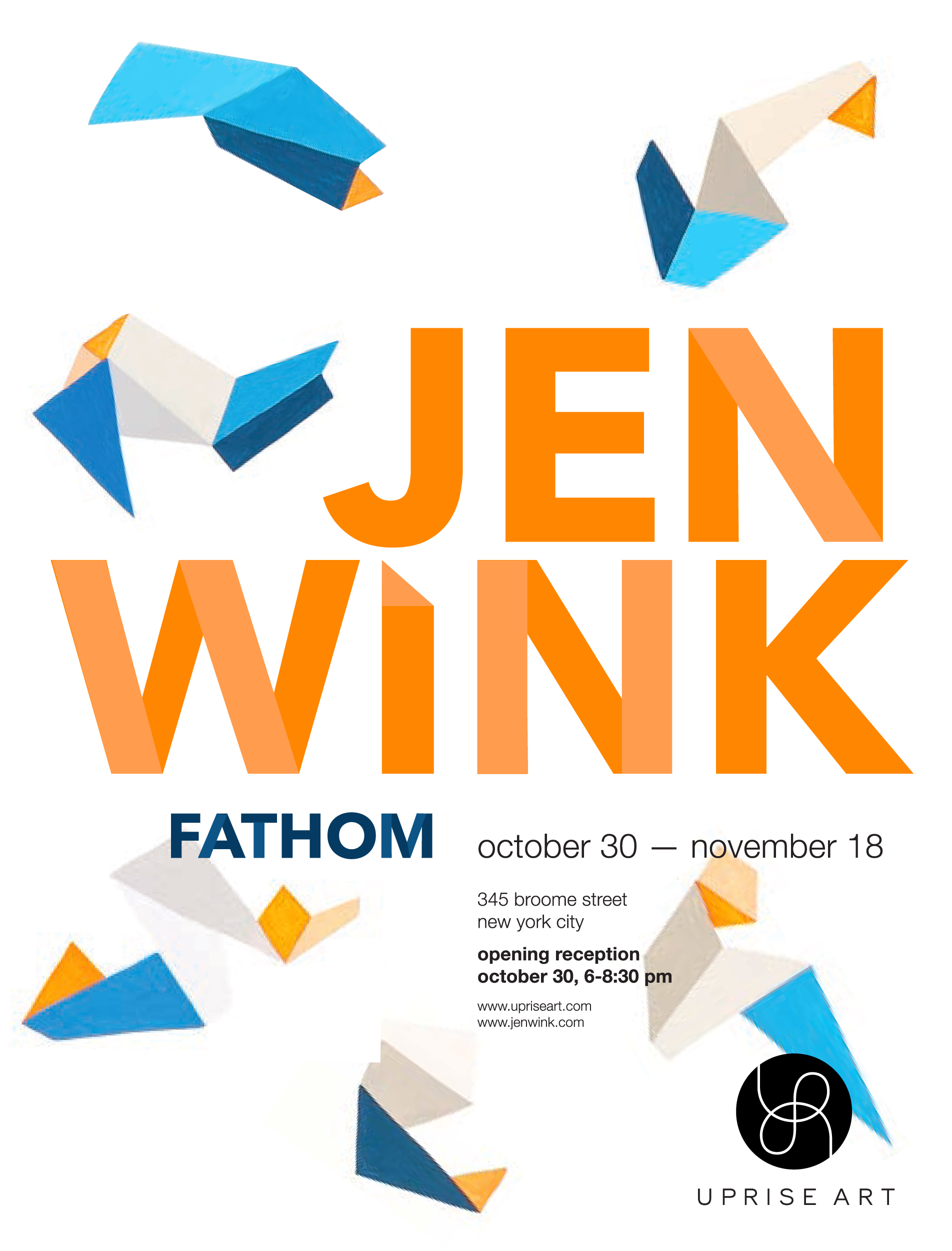 It's almost here! My solo show with Uprise, called Fathom,  opens at the end of this month (Thursday, October 30th) and will remain up through November 18th. Mark your calendar...come by and say hello!