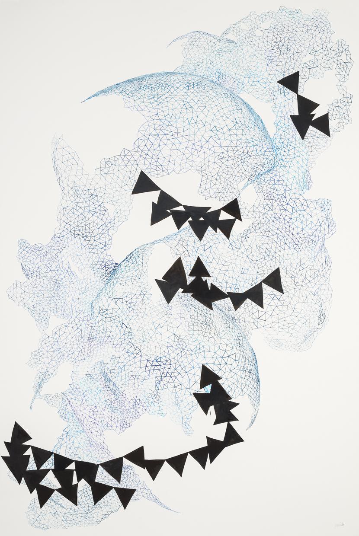 "SOLD Turbulence, 2014, 40.5x60"""