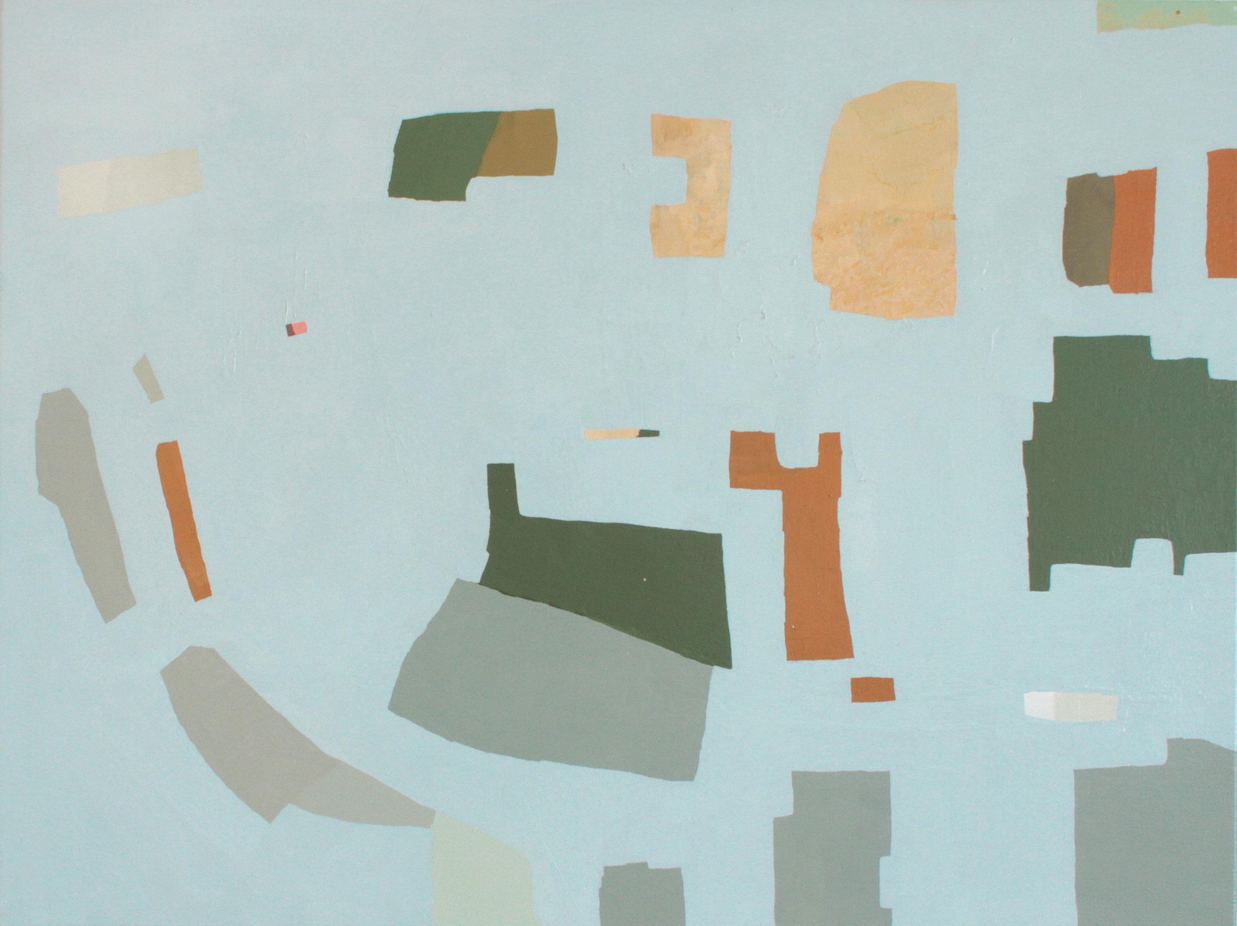 """""""Oolite"""" 2017, oil on canvas, 46""""x36"""""""
