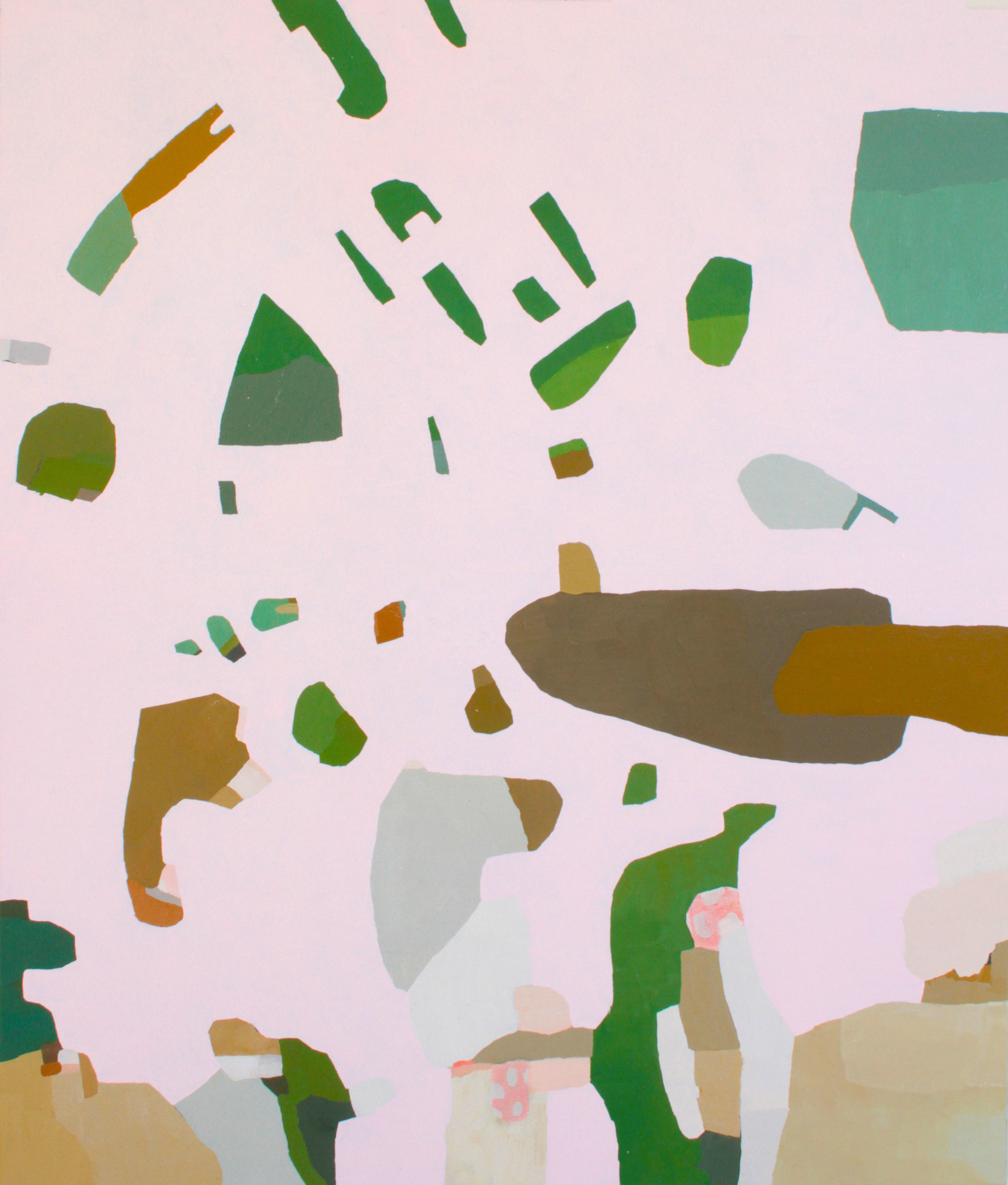 "Hunter-Gatherer, 2017, oil on canvas, 56""x48"""