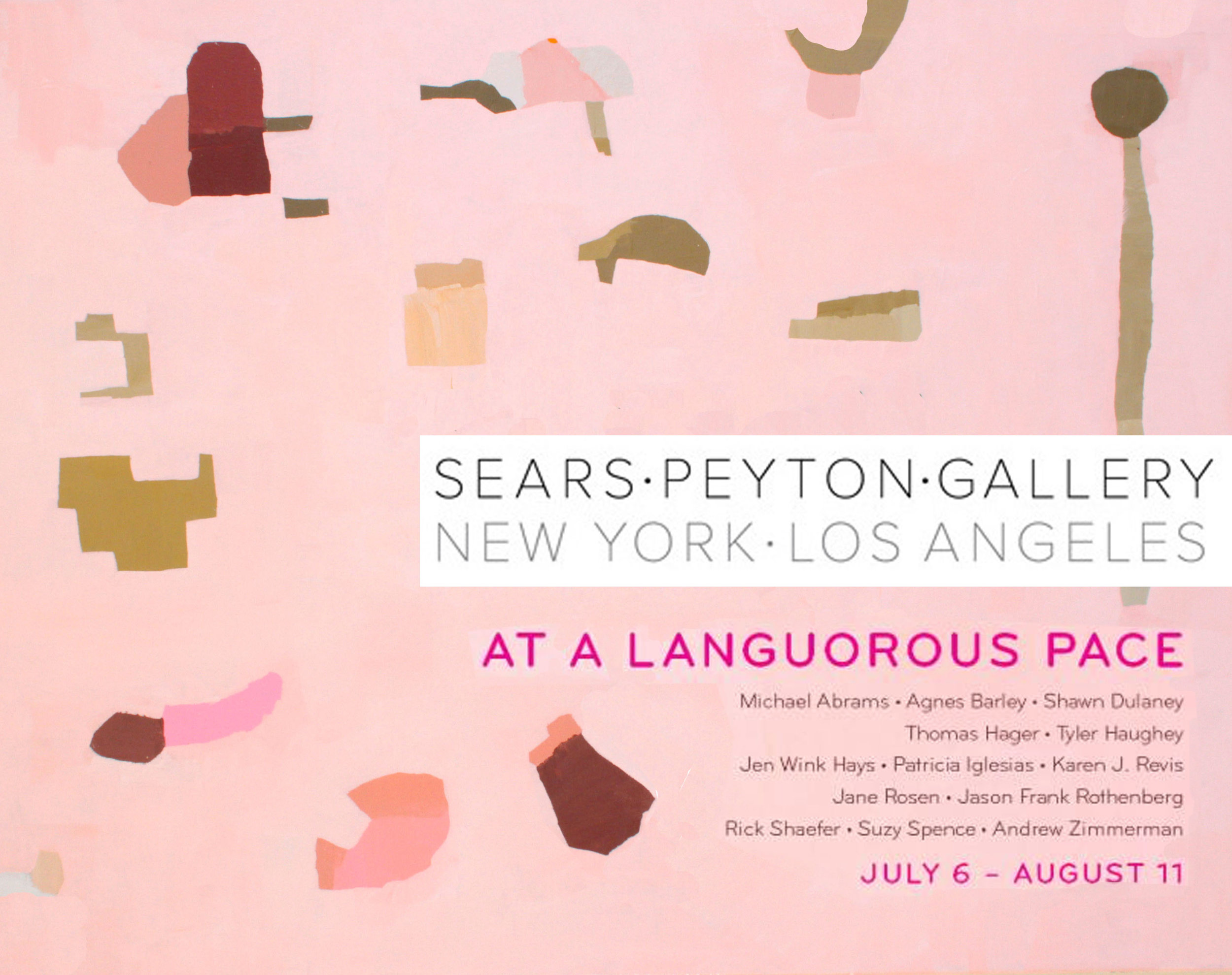 T  h rilled to be joining an amazing group of artists in this summer's group show at Sears Peyton Gallery in NYC.