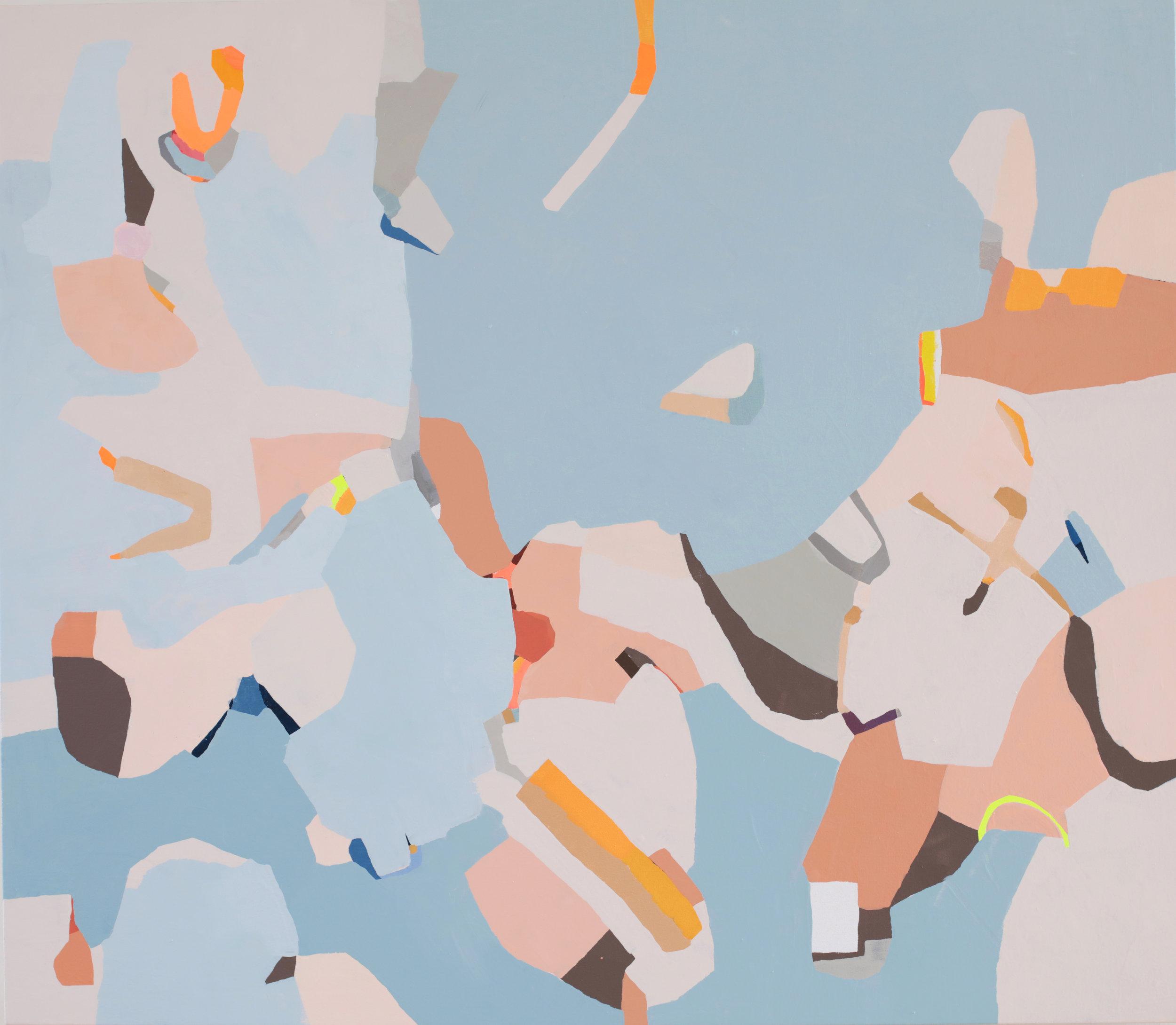 Intercoastal, 2018, oil on canvas 48x40 inches
