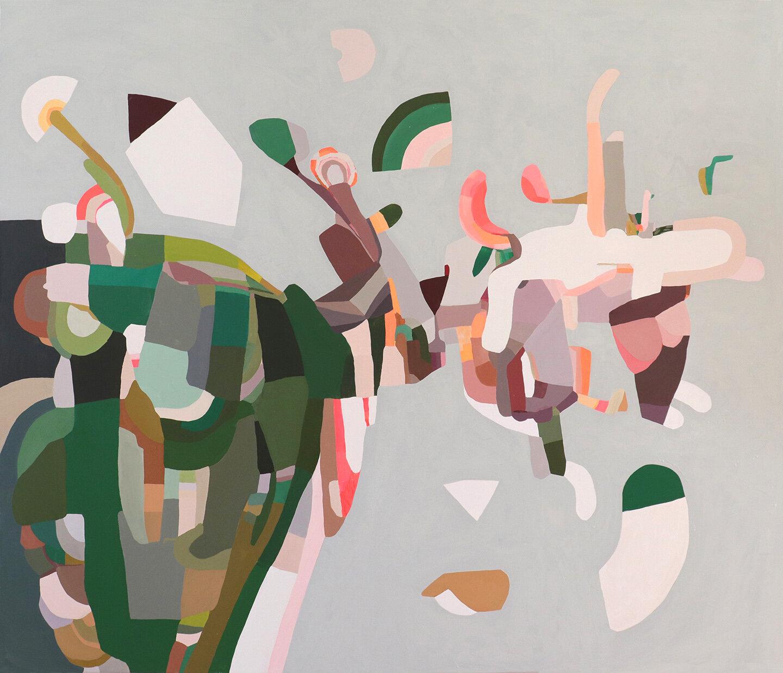 Escapee, 2019, oil on canvas, 84x72 inches