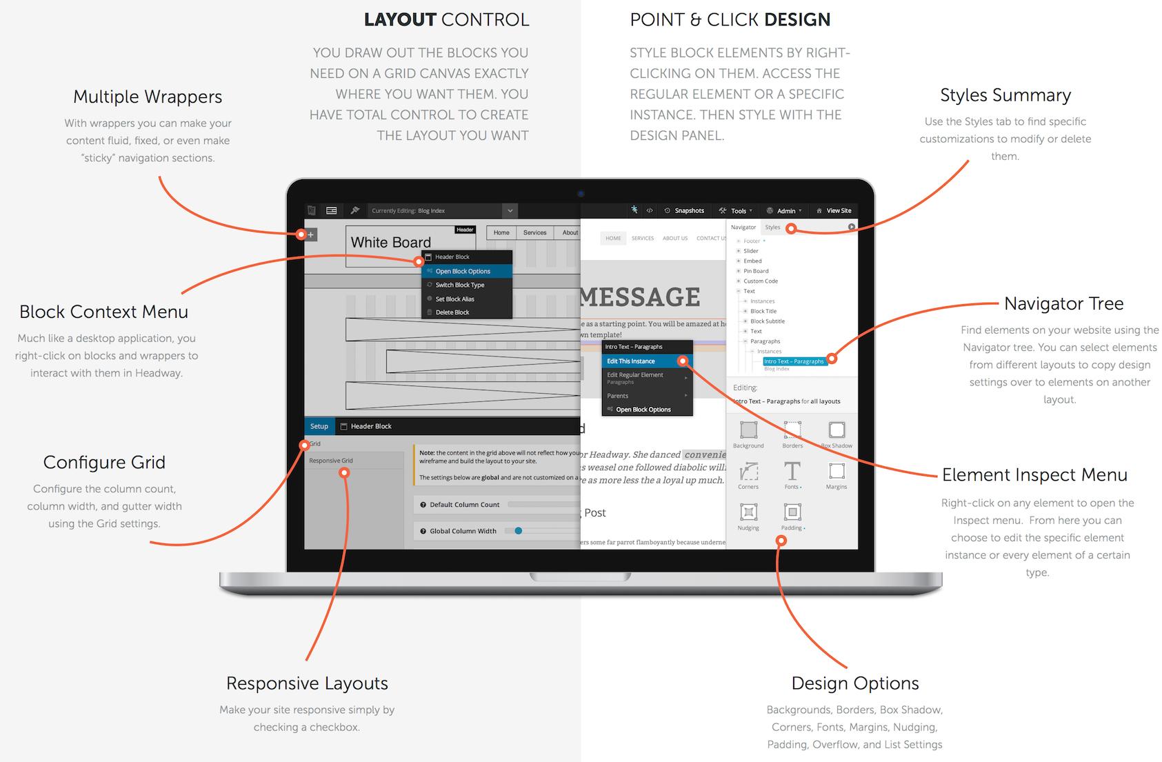 De meeste premium thema's fungeren vrijwel als een soort webdesign software.